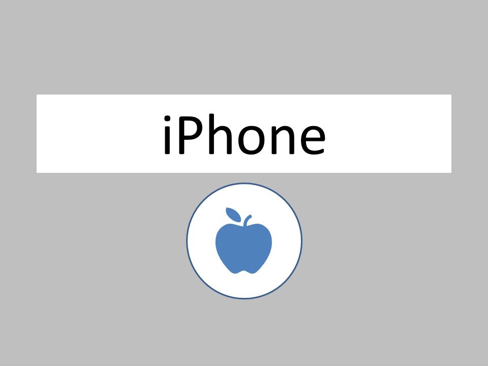 iphone ロゴ
